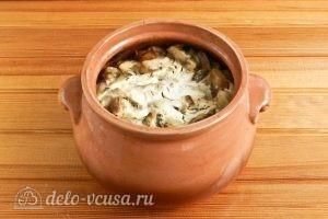 Пельмени в горшочках с грибами: Отправляем горшочки в духовку