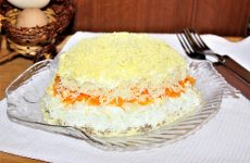 Салат Мимоза с сардиной