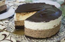 Сливочно-шоколадный торт