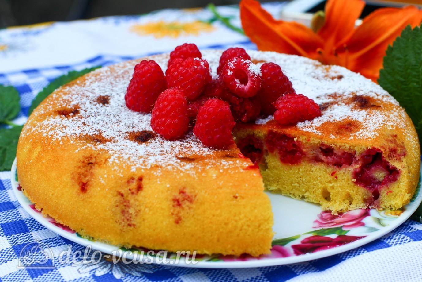 пирог с малиной в мультиварке фото рецепт