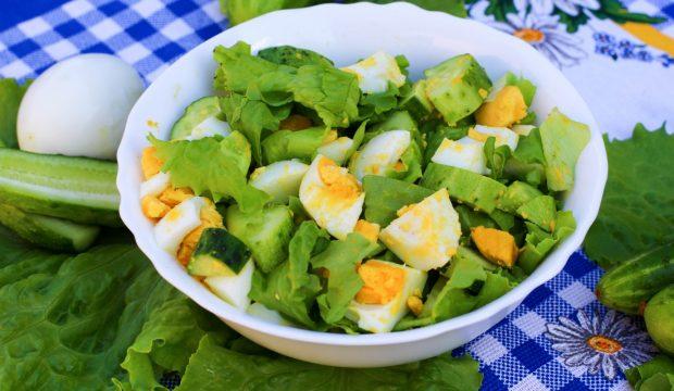 салаты рецепты с огурцом пошаговое фото