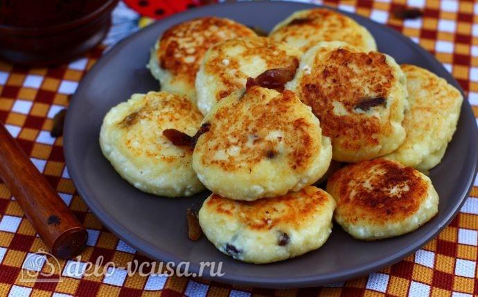 Сырники с изюмом и манкой
