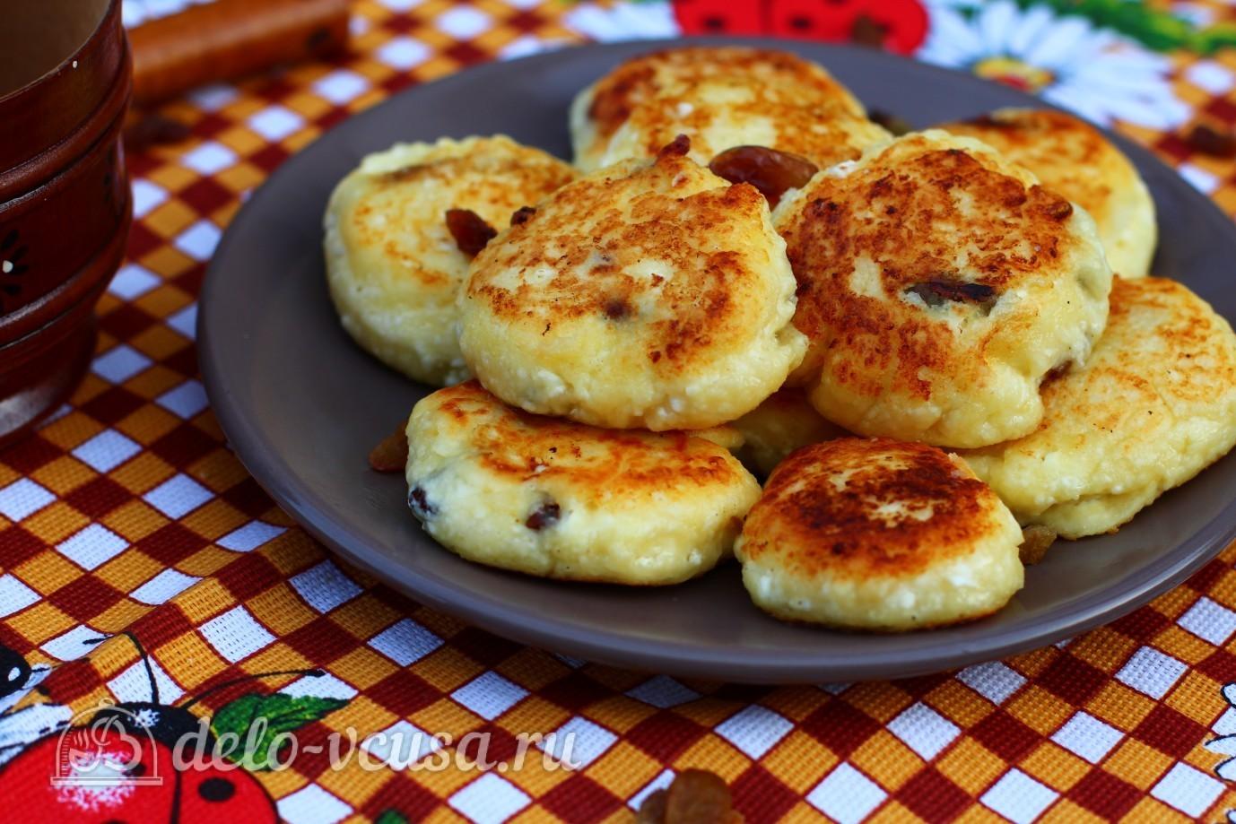 сырники с манкой и изюмом из творога рецепт