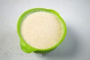 Домашний чизкейк: Вынуть заготовку из миски