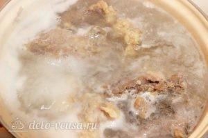 Борщ с бараниной: Отварить мясо