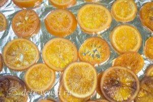 Карамелизированные апельсины: Сушить апельсины в духовке