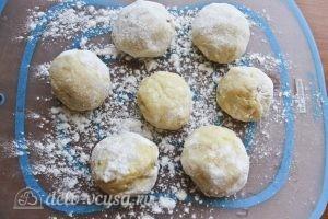 Картофельные клецки: Формируем шарики из теста