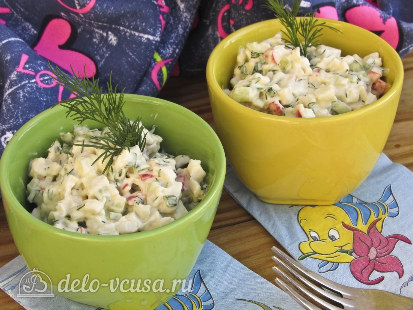 Рецепт крабовый салат с огурцом