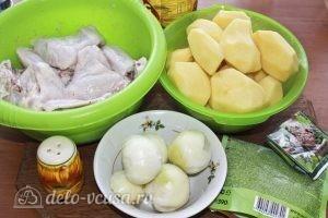 Куриные крылья с картофелем: Ингредиенты