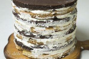 Медовый торт Пчелка: Отправить торт в холодильник