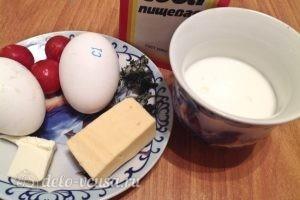 Омлет на кефире: Ингредиенты