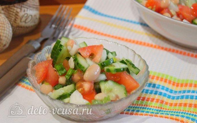 Овощной салат с фасолью