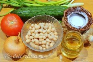 Овощной салат с фасолью: Ингредиенты
