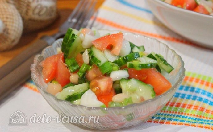 Овощной салат с фасолью рецепт с фото – пошаговое приготовление салата с фасолью и овощами