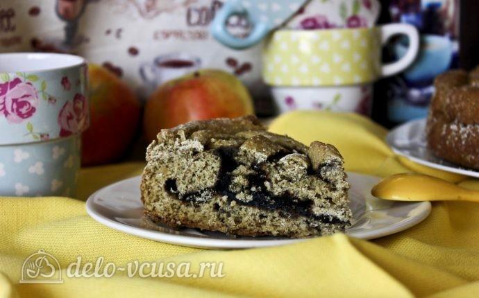 Пирог с черникой на кефире