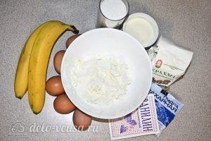 Бананово-творожный пудинг: Ингредиенты