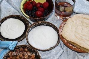 Пирожные с творожным кремом: Ингредиенты