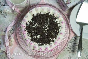 Бисквитный торт с творожным кремом: Украшаем верхушку торта
