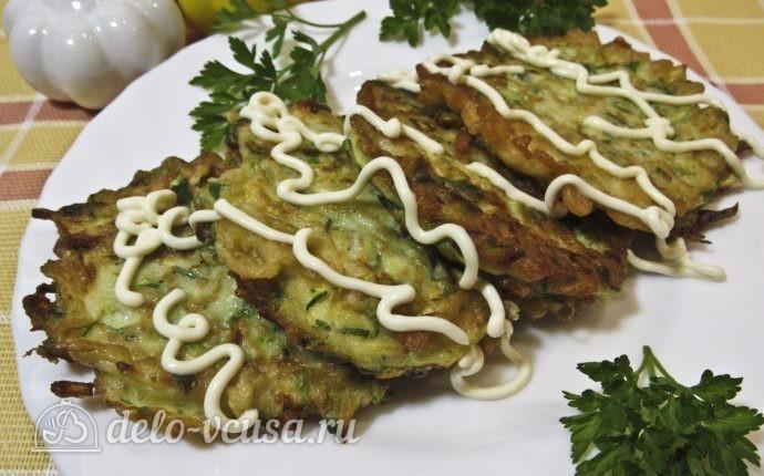 Оладьи из кабачков с зеленью