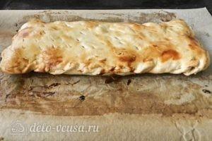 Пирог из слоеного теста с персиками: Запекаем пирог