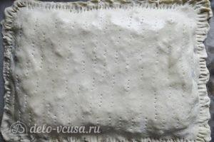 Пирог с брокколи: Накрываем все вторым пластом теста