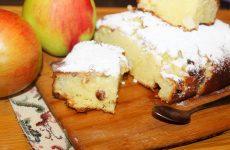 Пирог с яблоками и изюмом