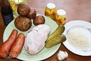 Салат-коктейль с курицей: Ингредиенты