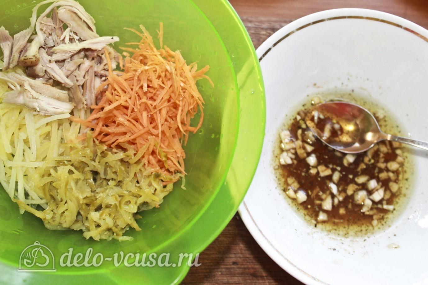 салат с семечками и с курицей рецепт