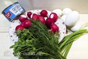 Салат с сардиной: Ингредиенты