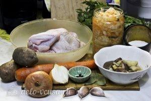 Щи с курицей и грибами: Ингредиенты