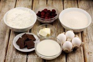 Шоколадные маффины с вишней: Ингредиенты