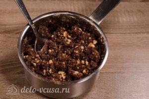Сладкая колбаска из печенья: Хорошо перемешиваем массу