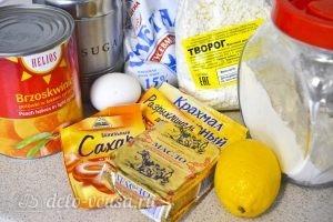 Творожный пирог с персиками: Ингредиенты
