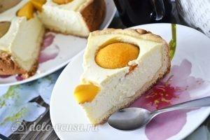 Творожный пирог с персиками: фото к шагу 17