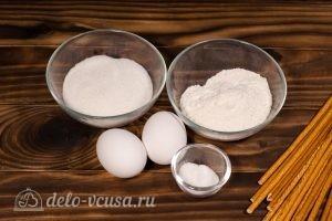 Бисквитные розочки на соломке: Ингредиенты