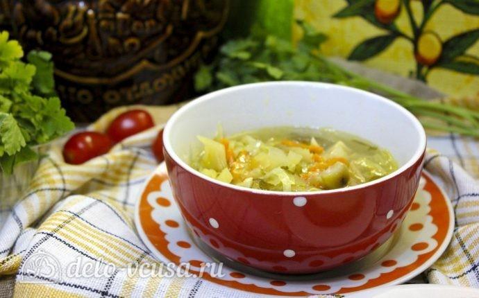 рецепт щи из свежей капусты с курицей грибами