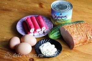 Крабовый салат с ветчиной: Ингредиенты