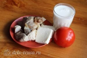 Омлет с курицей: Ингредиенты