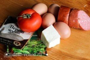 Омлет с ветчиной и сыром: Ингредиенты