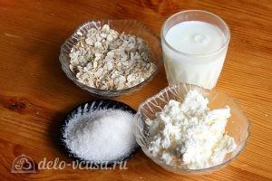 Овсяная каша с творогом: Ингредиенты