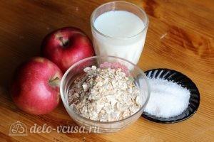Овсяная каша с яблоками: Ингредиенты