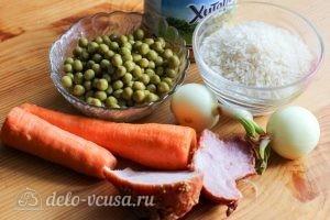 Рис с зеленым горошком: Ингредиенты