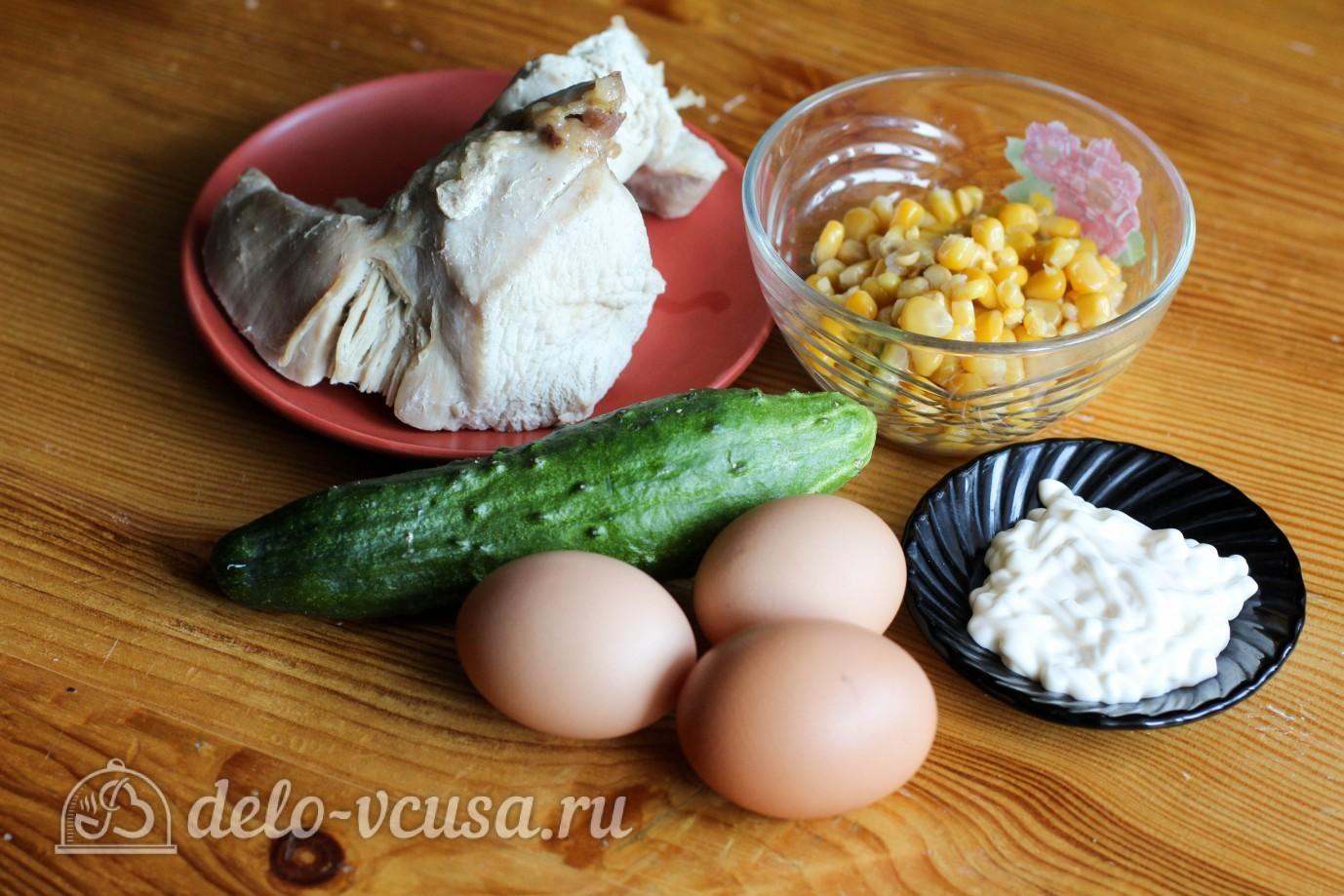 салат нежный рецепт с курицей и огурцом