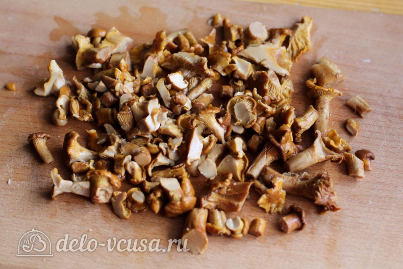салат маринованные грибы ветчина рецепт