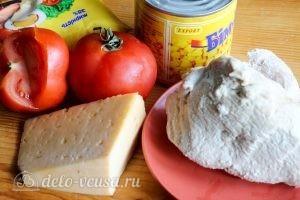 Салат с помидорами и сыром: Ингредиенты