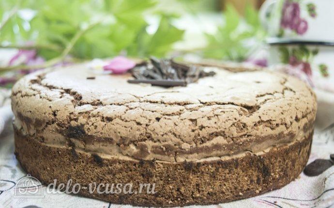 Бисквит на темном шоколаде