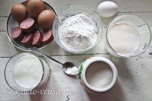 Блины с колбасой и яйцом: Ингредиенты