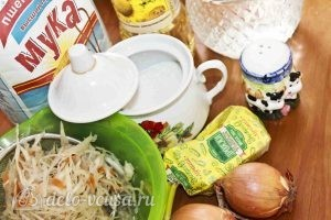 Дрожжевые пирожки с квашеной капустой: Ингредиенты