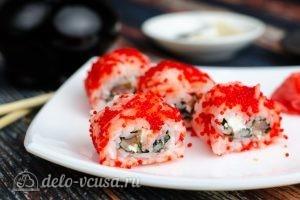 Масаго ролл с лососем и сыром 1
