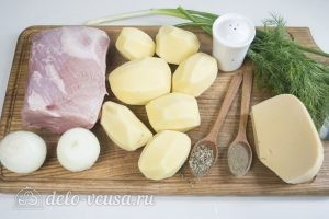 Мясо по-французски с картофелем: Ингредиенты